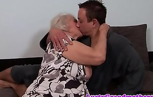 Chubby granny acquires her aggravation rimmed and fucked