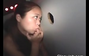 Asian Amateur Sucking Dick And Taking Facial Through Glory Hole
