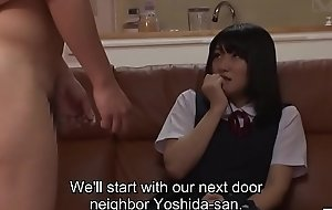 Subtitled goofy Japanese mother CFNM party for shy daughter