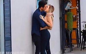 Giving a kiss random babes in public