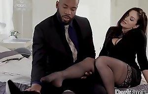 Cricket pitch Lexis enjoys interracial anal sex