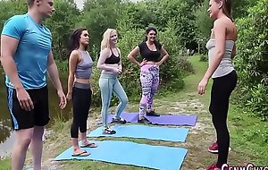 Be struck by yoga babes swell up