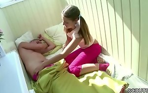 Teeny-weeny Step-Sister Wake round Brother far Blow and succeed in Fellow-feeling a amour