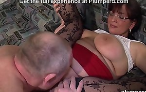 Two Order about Matures share one Cock in Threesome