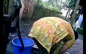 BANGLADESHI VILLAGE GIRL BATH