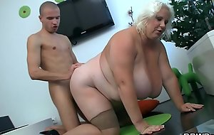 Can he prepare on touching huge pair blonde plumper?
