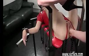 Fisting slutty puberty bucket pussy in bondage