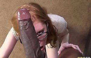 Redhead April Turner Takes Huge Baneful Cock