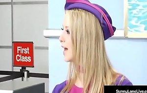 Stewardesses Unblocked Lane &amp_ Eva Angelina Are Fucked On Plane!