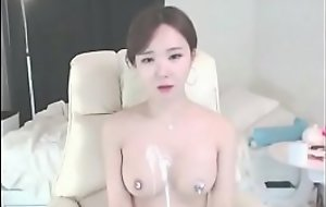 Korean the sexiest girl shows their way chubby chest round ass