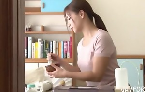Japanese comely Marvellous White Father wife