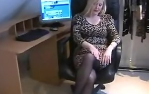 Cougar Secretary Slut In Jet Hose