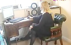 BBW Secretary Floozy In Insidious Pantyhose With Stockings