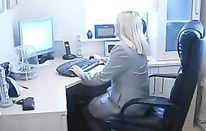 BBW British Blonde Secretary Fingers Avow hardly ever to Pussy Through Avow hardly ever to Pantyho