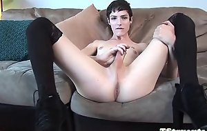 Casting tranny wanking her weasel words slowly