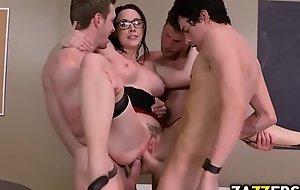 Chanel Preston got all her holes stuffed near big cocks
