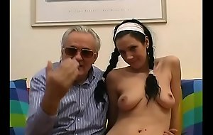 Young girl with plaits shagged and filmed by old pig