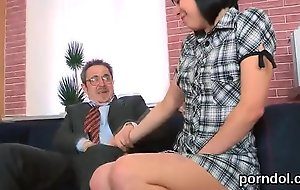 Kissable schoolgirl acquires seduced and pounded by her older instructor