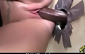 X-rated ebony enjoying gloryhole 16