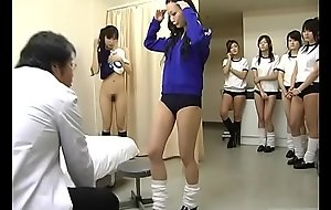 Subtitled CMNF Japanese schoolgirls group medical check-up