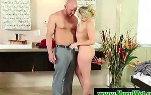 Hot oriental masseuse gives pleasure nearby her tits in nuru rub-down 08