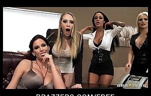 Four Hawt big-boob office sluts fuck boss'_ big-dick in office fuckfest