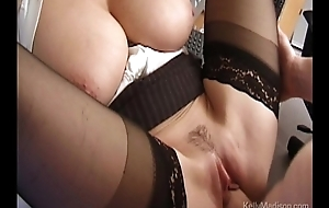 Big-busted Secretary Lusts For Cock In Hammer away Assignation