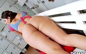 Lovely Tgirl Andressa Alves Makes Herself Cum