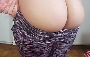 Yoga Panties + Big Ass + Tight Wet crack = I made him Cum here 5 Minutes