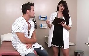 Sexy dark haired doctor can't live without fucking her patients