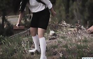 Homeless pauper self-abuse of schoolgirls