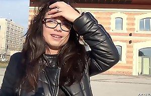 GERMAN SCOUT - Teeny mit Zahnspange bei Found search for Anal gefickt