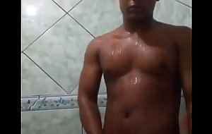 Taking a shower