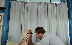 Beautiful blonde BBW in glasses loves cum all over say no to on the mark big tits