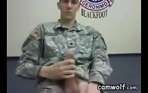 Military Impoverish Masturbating