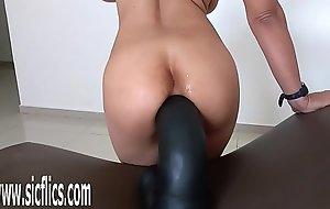 Brobdingnagian anal marital-device bonking MILF