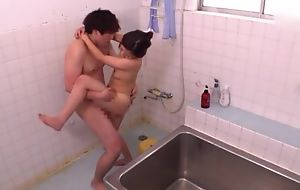 Ravishing Asian lady takes a nice shower before property screwed