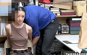 Sexy Latina Shop Raider Strip-Searched &_ Fucked