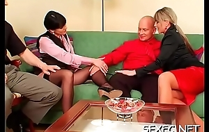 Superb babes stabd suffer with while sharing a generous weenie