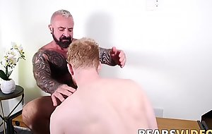 Marc Angelo and Cooper Roads bareback after sensual blowjobs