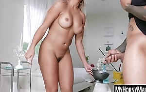 Hired help Mercedes Carrera works on two BBC brothers