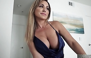Sexy Mom Aubrey Coloured Fucks Husband Space fully Problem Playing His Step Son