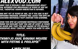 Hotkinkyjo anal banana mousse with fisting &amp_ prolapse