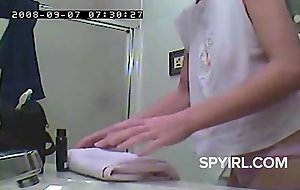 Retro Girl before Shower-Hidden Cam Clip
