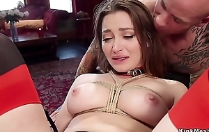 Photographer joined in threesome bdsm sex