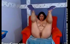 Youthful BBW Latin chick round Heavy Gut Repartee overhead Web camera - ProxyCams.com
