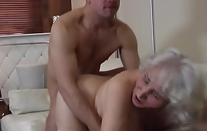 Granny with hairy cunt having sex with old crumpet