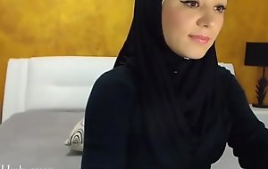 Arab hijab slut gang  &amp_ masturbation on cam