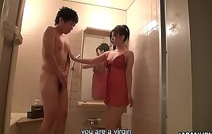 Good looking Asian fairy eagerly takes away coy dude'_s virginity