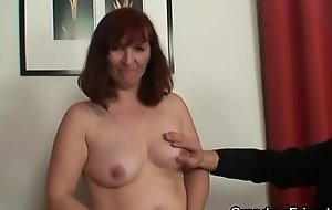 Threesome sex with ma after strip poker